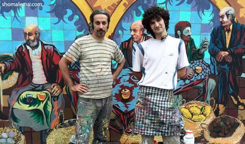نقاشی دیواری رشت ۰۲۶