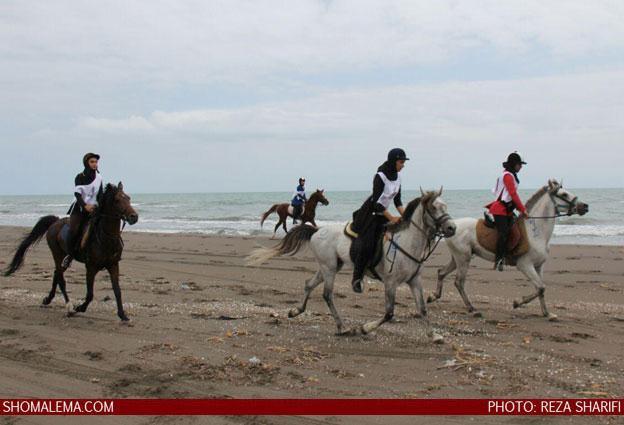 گزارش-تصویری-از-مسابقات-اسب-سوراری-در-ساحل-چمخاله